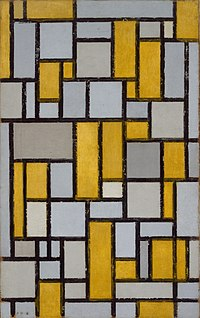 Piet Mondrian - Composition with Grid ^1 - 63.16 - Museum of Fine Arts, Houston.jpg