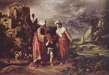 """The dismissal of Hagar"", 1612 by Pieter Pietersz Lastman"