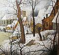 Pieter bruegel il giovane (da bruegel il vecchio), paesaggio invernale con trappola per uccelli, 02.JPG