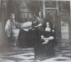 A Man with a Book and Two Women