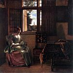 Pieter de Hooch - Woman Reading a Letter - WGA11707.jpg