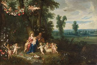 Madonna and Child, St John the Baptist and Angels