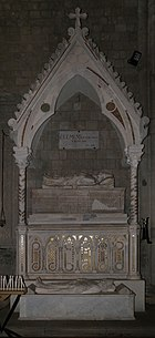 Pietro di oderisio, monumento di clemente IV e del card. pierre le gros di saint-gilles, post 1268, 01