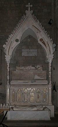 Pietro di oderisio, monumento di clemente IV e del card. pierre le gros di saint-gilles, post 1268, 01.jpg