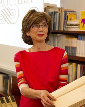 Pilar del Río - Pilar del Río at the José Saramago Foundation library, in  Lanzarote, Canary Islands