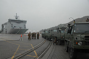 Pinzgauers in Lyttelton - Flickr - NZ Defence Force.jpg