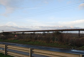 Coldharbour, Havering - Image: Pipeline Bridge near Coldharbour Lane geograph.org.uk 1601685