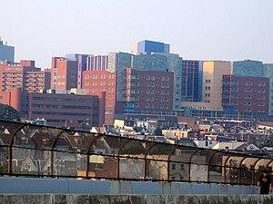 Children's Hospital of Pittsburgh of UPMC - Children's Hospital of Pittsburgh of UPMC as viewed from the Bloomfield Bridge