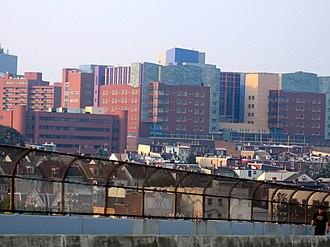 UPMC Children's Hospital of Pittsburgh - UPMC Children's Hospital of Pittsburgh as viewed from the Bloomfield Bridge