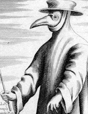 Great Northern War plague outbreak - Beak shaped mask, as worn by Hamburg's plague doctor Majus