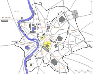 Arcus Novus - Location of Arcus Novus