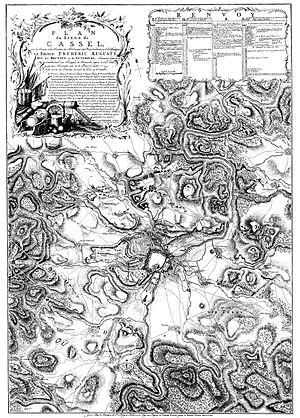Siege of Cassel (1762) - Image: Plan du Siege de Cassel (Frederic Auguste) 1762