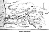 Plan of the Battle of the Alma. George Dodd. Pictorial history of the Russian war 1854-5-6.jpg