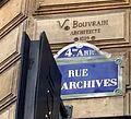 Plaque Rue des Archives Paris.JPG