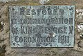 Plaque attached to churchyard cross - geograph.org.uk - 870490.jpg