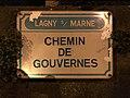 Plaque chemin Gouvernes Lagny Marne 1.jpg