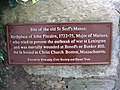 Plaque marking the site of St Serf's Manse - geograph.org.uk - 1369782.jpg