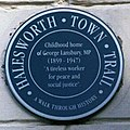 Plaque on home of George Lansbury - geograph.org.uk - 65869.jpg