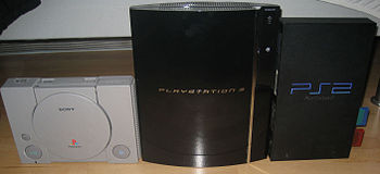 The three PlayStation consoles side by side.