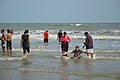Playful People with Sea Waves - New Digha Beach - East Midnapore 2015-05-01 8788.JPG