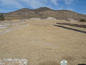 Plazuelas - Ballgame court viewed from the south