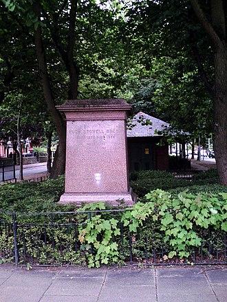 Hugh Stowell Brown - statue pedestal