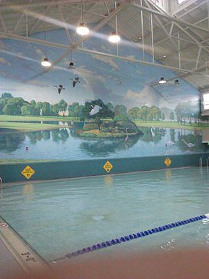 Miller/Knox Regional Shoreline - Mural of the lagoon