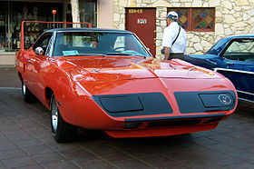 Plymouth Superbird on dodge 440 v8 engine