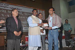 Ashok Chavda - Ashok Chavda at Ahmedabad on the event of Yuva Gaurav Puraskar ceremony - 2012