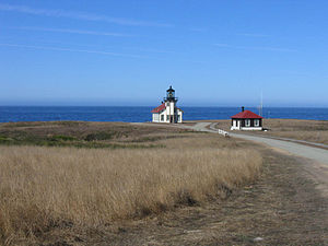 Point Cabrillo Light - A farther view of the lighthouse