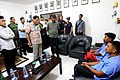 Police Chief Inspector Arnold Ongachen and Police Officer 1 Michael Grande are presented to President Rodrigo Duterte following their released from the communist rebels at the Eastern Mindanao Command.jpg