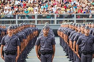 Primeiro Comando da Capital - São Paulo's military Police (Polícia Militar) is the main target of the attacks.