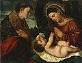 Polidoro da lanciano-la virgen con el niño y san luis-budapest.jpg