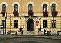 Polkowice - Ratusz -wejście do nowej części ratusza (zetem).jpg