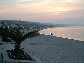 Polychrono, Kassandra, Chalkidiki, Greece - Sunset on a beach.jpg