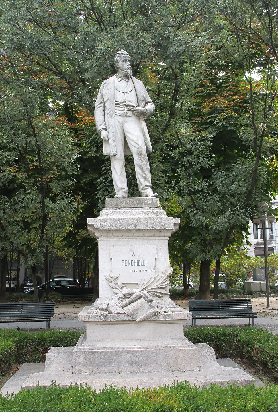 Ponchielli monument in Cremona Italy