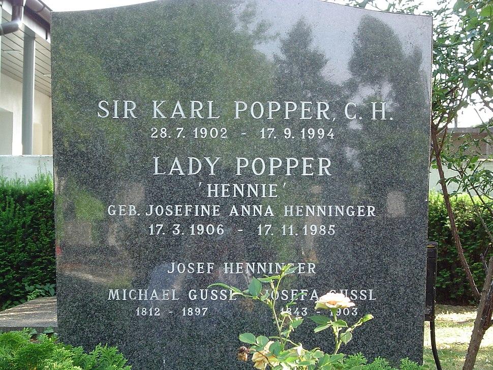 Popper gravesite