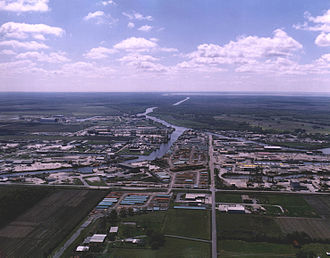 Iberia Parish, Louisiana - NOAA aerial photo of the Port of Iberia