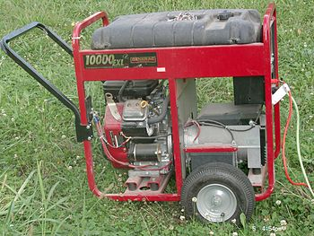 Electrical generator, with Honda OHC engine an...