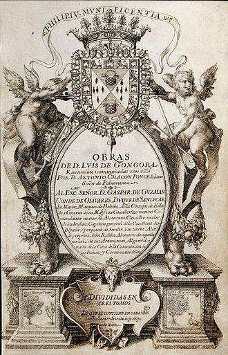 Luis de Góngora - Title page of the Chacon Manuscript.