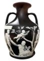 Portland Vase, Josiah Wedgwood & Sons, c. 1795, No. 9 of a limited edition, blue-black and white jasperware, view 3 - Fogg Art Museum, Harvard University - DSC01281 resized white-balanced white bg.png