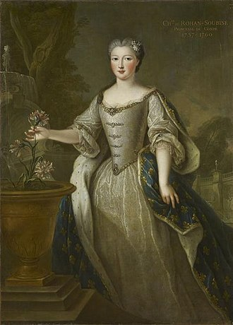 Landgravine Caroline of Hesse-Rotenburg - Caroline of Hesse-Rheinfels, Princess of Condé, by Pierre Gobert.