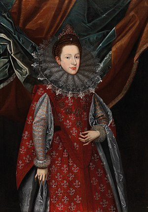 Margaret of Savoy, Vicereine of Portugal - Margaret of Savoy, Duchess consort of Mantua and Montferrat (oil by Frans Pourbus)