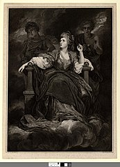 Mrs. Siddons in the character of the tragic muse