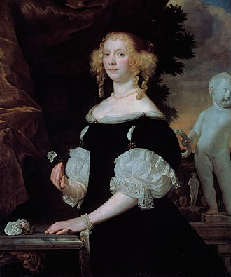 Abraham Lambertsz van den Tempel - Portrait of a woman Abraham Lambertz van den Tempel , 1668.
