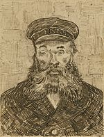 Portrait of the Postman Joseph Roulin (1888) van Gogh Getty.jpg