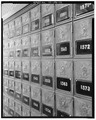Post office boxes. - Pueblo Federal Building and Post Office, 421 North Main Street, Pueblo, Pueblo County, CO HABS COLO,51-PUEB,1-12.tif