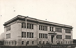 Bakersfield High School - Bakersfield High School in 1917