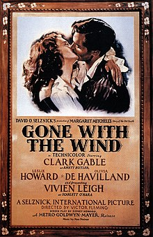 A screencap of the title card from the trailer of Gone with the Wind.