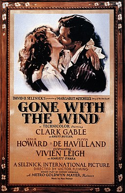 Fitzgerald wrote some unused dialogue for Gone with the Wind (1939), for which he received no credit. Poster - Gone With the Wind 01.jpg